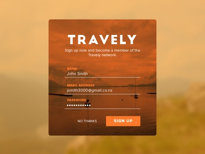 Daily Design 001 - Sign Up web signup design daily ui