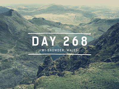 Day 268  - Mt Snowden, Wales nickblanchecreatve wales mt snowden design travel