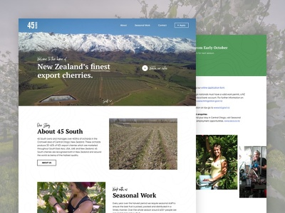 45 South ui ux quality cherries new zealand growing fruit nick blanche orchard design blanche daily daily design