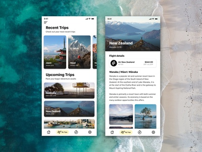Travel Tracker 004 daily growth my trips trips travel ui designeveryday motivation dailyui daily design blanche daily ui nick blanche nickblanchecreative nickblanche design