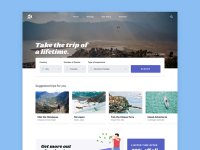 Trips dailyui ui new zealand designeveryday motivation daily design blanche nick blanche daily ui nickblanchecreative nickblanche design