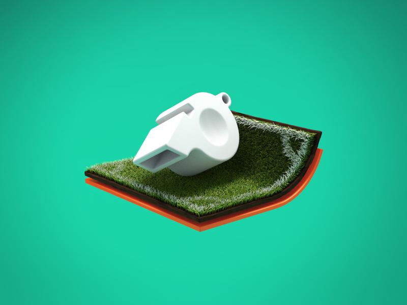 Football #1 football soccer pitch grass icon branding illustration render 3d cinema4d c4d