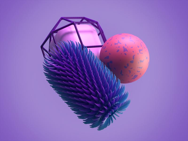 Not-so-primitives 4d set geometry illustration render geometrical abstract c4d cinema4d 3d arnold