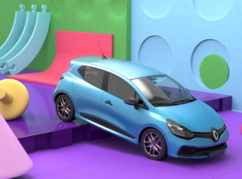 Renault Clio #1 car render illustration cinema4d c4d