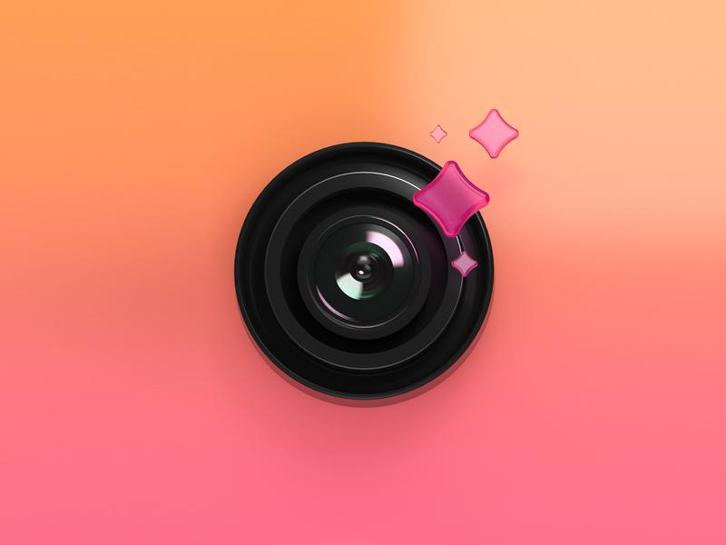 Magic Camera Icon magic camera app icon 3d render cinema4d c4d
