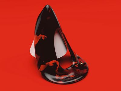 Red 3d maxon illustration render cinema4d c4d geometrical geometry design abstract set