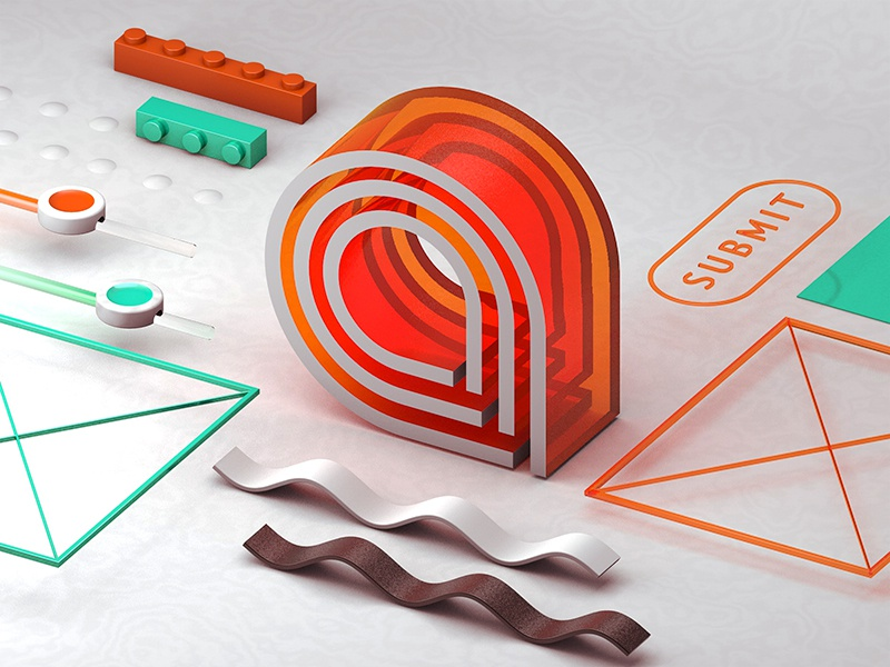 Isometric Experiments #1 arctouch cinema4d c4d geometrical geometry box design abstract set