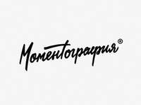 Momentography (polaroid store) lettering typography logo