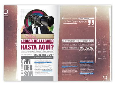 Editorial Design - Double page spread interview editorial design graphic magazine