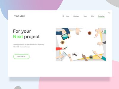 Next project web landing page