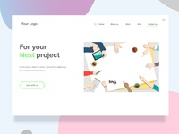 Next project web landing page