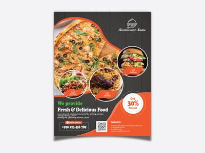 Modern Restaurant Flyer Template ad icon branding flat logo vector print illustration template restaurant menu templates restaurant menu restaurant print template menu design menu flyer template fast food flyer fast food design business