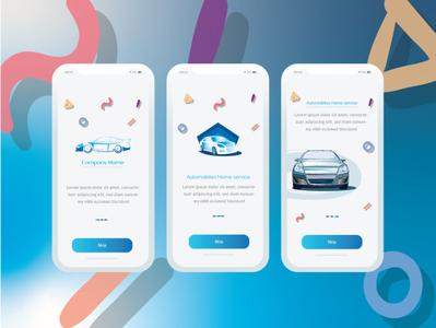Automobiles app Splash Screen UI
