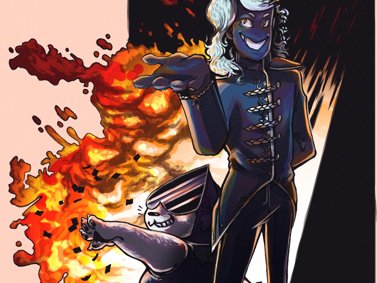 Kaboom explosion undertale deltarune illustration