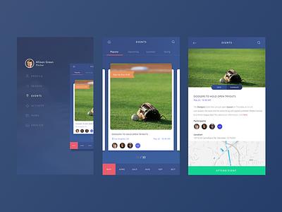 Debut Shot - Pro 9 blue debut ui mobile ios app