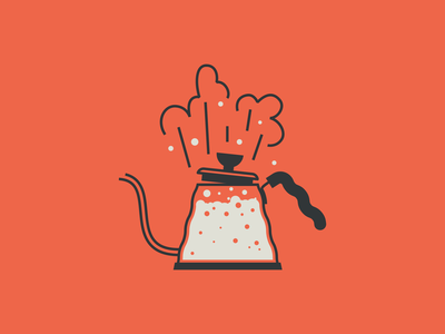 Kettle Illustration cold brew french press v60 hario chemex bubbles illustration spot illustration coffee shop boiling water barista coffee kettle