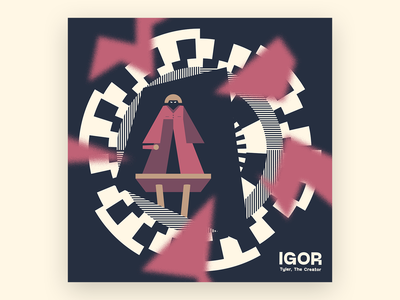10x19 IGOR illustration experimental album cover 10x19 tyler the creator tyler music igor