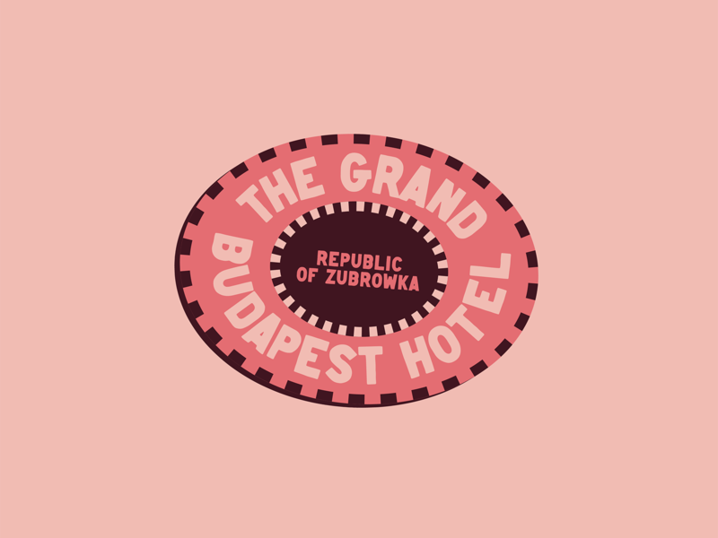 Grand Budapest Hotel Luggage Label vintage badge sticker luggage label cinema film movie criterion grand budapest hotel wes anderson hotel