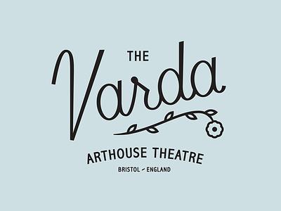 The Varda movie logotype logo england theatre branding varda lockup script