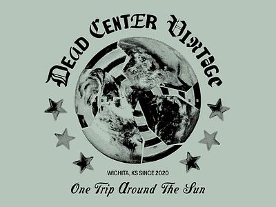DCV Shirt postmodern sun thrift target globe halftone vintage shirt punk collage