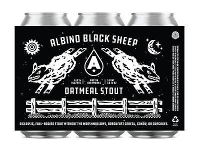 Albino Black Sheep austin beerworks texas austin albino grit fence sheep beer can beer