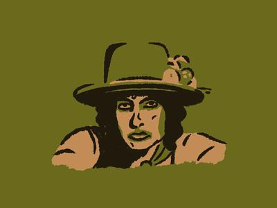 Bob Dylan 60s netflix rolling thunder revue procreate drawing portrait dylan fold music bob dylan