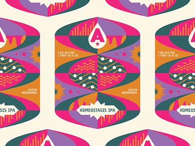 Homeostasis IPA ipa texas austin brewery can geometric science label beer