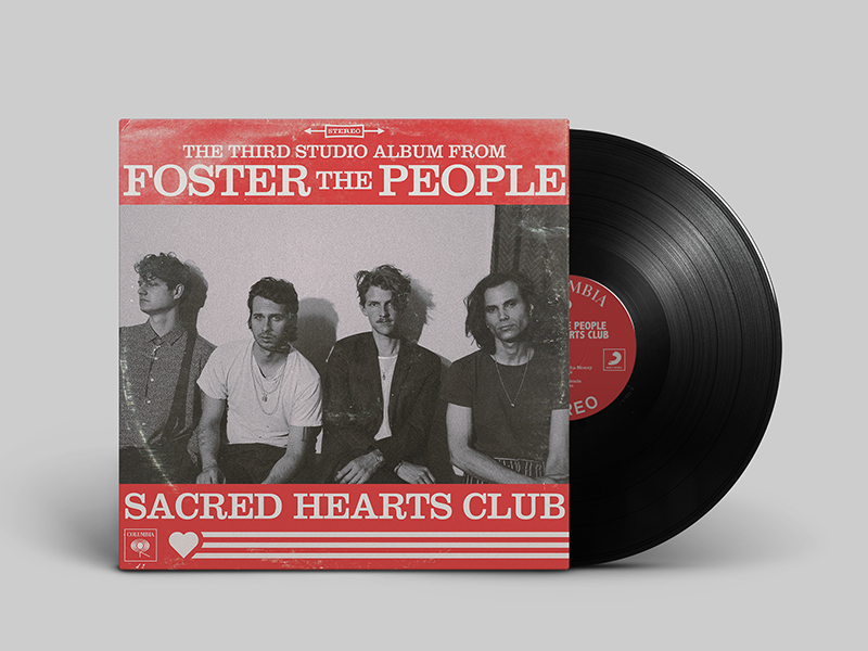 Sacred Hearts Club 60s sleeve vintage record music shc foster the people album