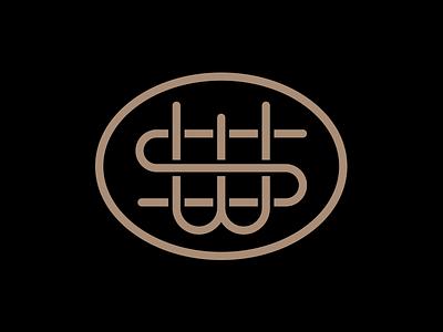 SW Monogram sw logo mark monogram s curve ws w