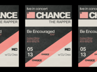 Chance The Rapper Gig Poster
