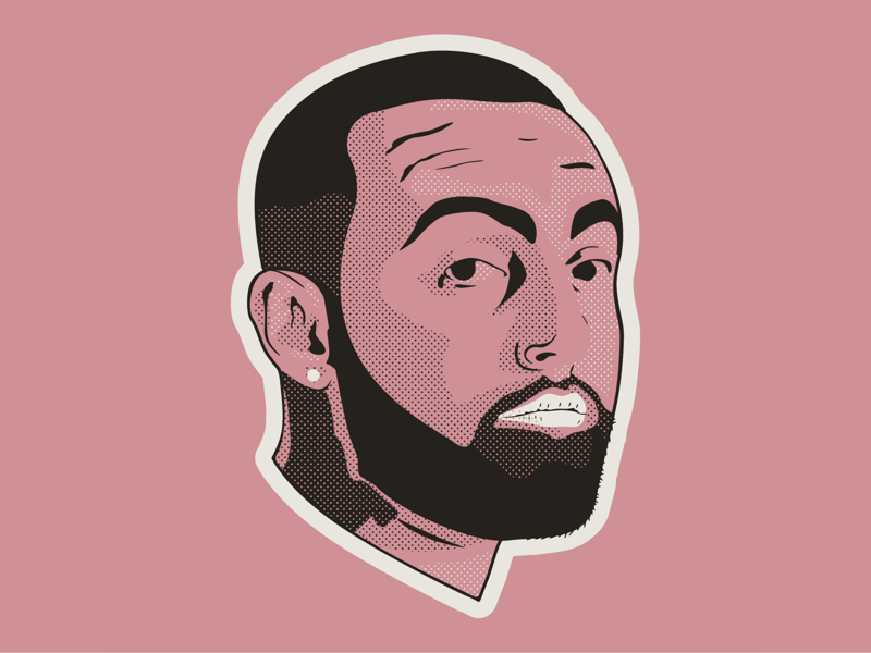 Mac Miller Portrait hip hop rap music halftone vector portrait mac miller