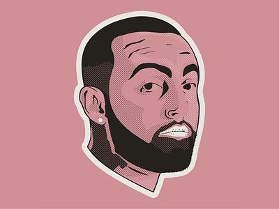 Mac Miller Portrait hip hop rap music halftone vector portrait mac miller