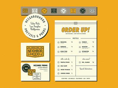 Neighborhood Stationery branding stickers menu card coaster stationery neighborhood
