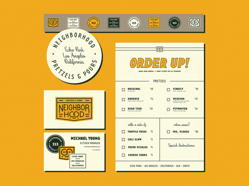 Neighborhood Stationery branding stickers menu card coaster stationery neighborhood