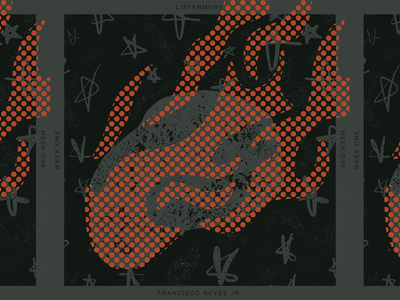 LISTEN MORE WEEK 01 comet meteor space grit illustration music cover art album playlist
