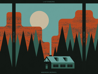 LM Week Four listen more music playlist album cover sky smoke camp cabin mountain canyon moon canyon