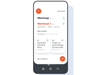 Workout App fitness health trainer helper weights warmup lift data widget clean dashboard design ux ui mobile workout