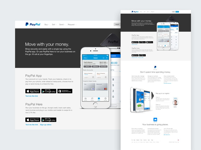 New PayPal Apps Page by Kyle Chaplin | Dribbble | Dribbble