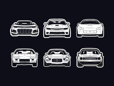 Camaros chevrolet camaro chevy ai illustrator vector illustration car