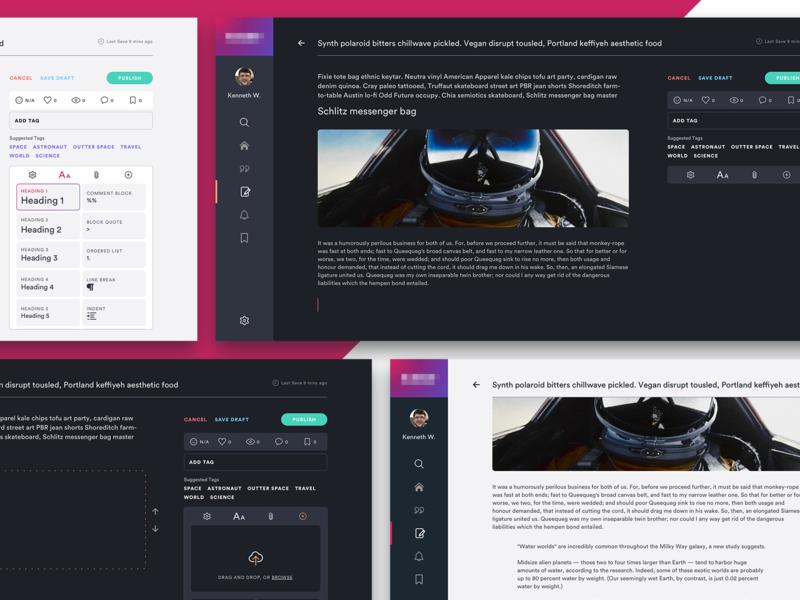 Creating Content / Web UI (WIP) web design web app widget simple icon clean dashboard design ux ui