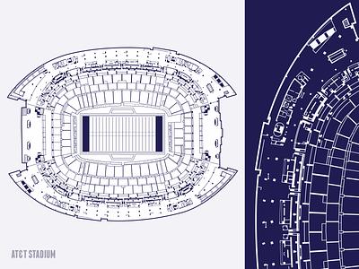 Stadium Vector complex shape line att football stadium illustration illustrator clean branding vector logo