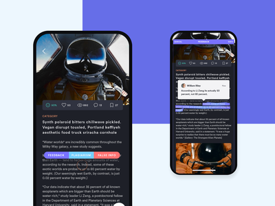 Feedback Concept data info article read write feedback app widget simple mobile clean design ux ui