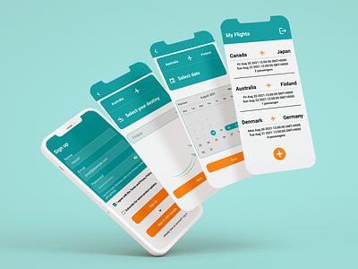Flight Reservation app i18n yup redux formik firebase development ui css design frontend development frontend mobile react reactnative