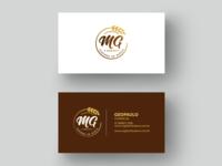 Cartões de visitas - MG Distribuidora.