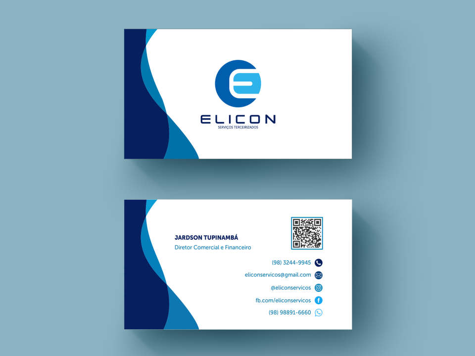 Cartão de visitas - Elicon Serviços. São Luiz/MA. empresarial empresa contabilidade elicon serviços serviço consultorio consultor comercio negócios negocios