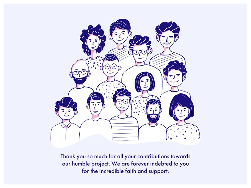 Thank You Note design vector postcard thank you card customer support sketches character design character sketch procreate ipadart illustration