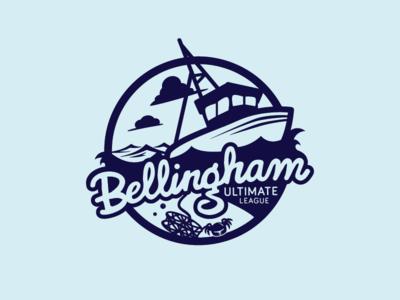 Bellingham Ultimate - Water Side type crab league ultimate logo boat water bellingham