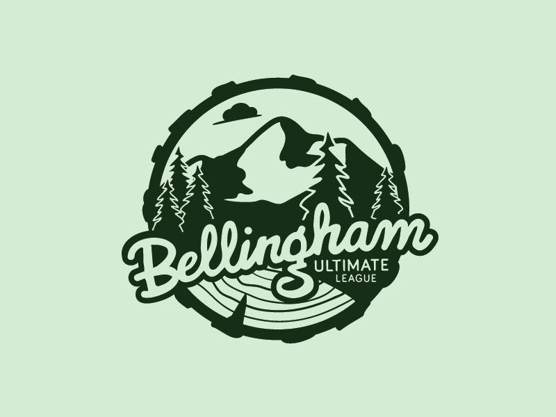 Bellingham Ultimate - Mountain Side league ultimate wood logo trees mountain bellingham