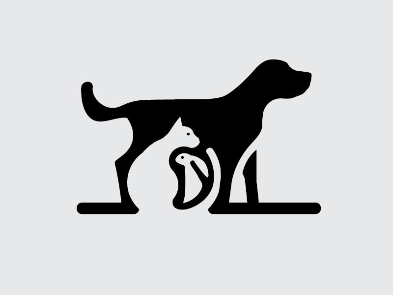 Pet Logo logo pets space negative bunny rabbit cat dog
