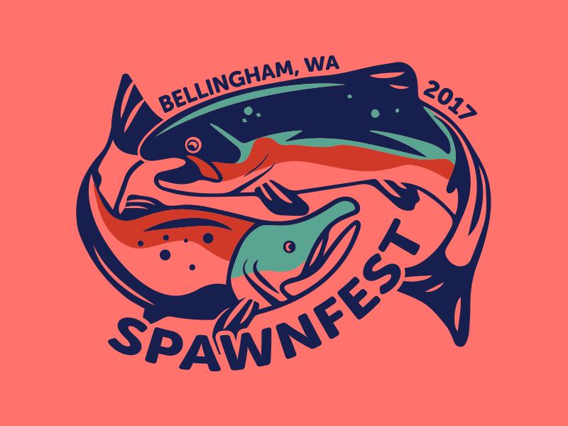 Spawnfest Shorts Design tournament ultimate salmon fish shorts clothing logo